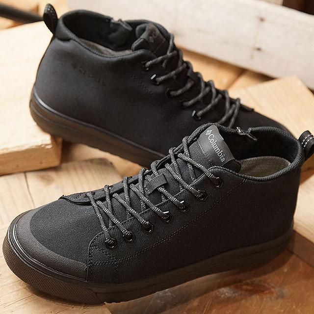 【即納】コロンビア Columbia ホーソンレイン2 アドバンス オムニテック HAWTHORNE RAIN II ADVANCE OMNI-TECH メンズ レディース レインシューズ 防水透湿スニーカー ビブラム メガグリップ 靴 Black (YU0256-010 SS19)