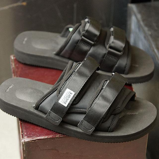 4a4e5234bab0 SHOETIME  Sui cook SUICOKE slide sandals MOTO-CAB men gap Dis BLACK ...