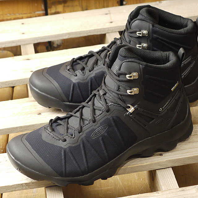 8b7379ad43380 Kean KEEN men Venn charr mid waterproof MEN VENTURE MID WP trekking shoes  shoes Black/ ...