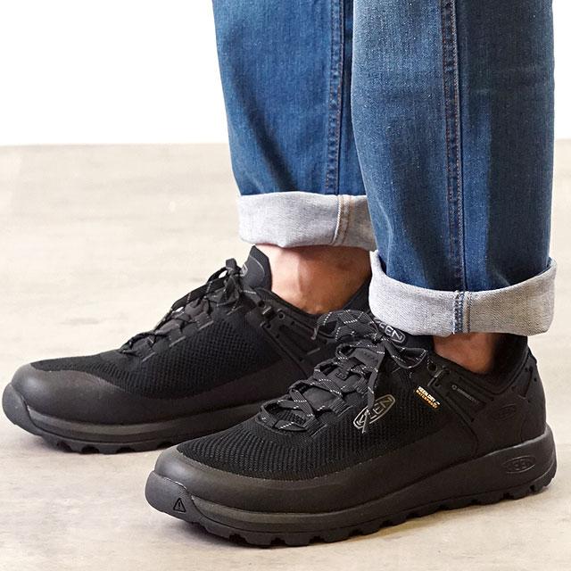【月間優良ショップ】【サイズ交換無料】キーン KEEN メンズ シティズン エヴォ ウォータープルーフ MEN CITIZEN EVO WP アウトドア スニーカー 靴 Triple Black/Black (1021159 SS19)
