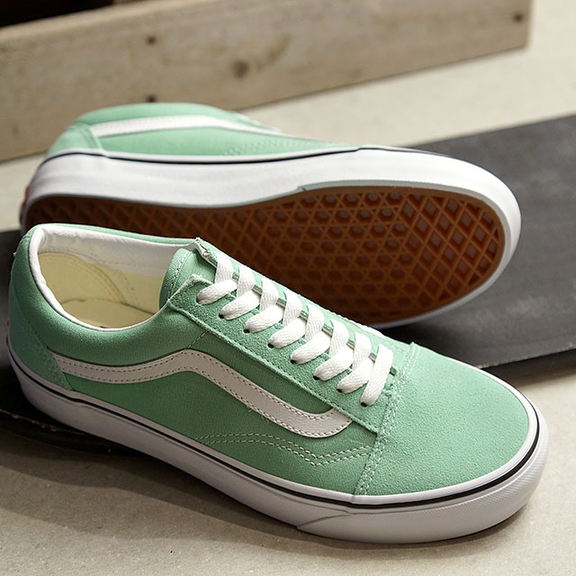 b873b7308469 Vans VANS old school OLD SKOOL Lady s station wagons sneakers shoes NEPTUNE  GREEN TRUE WHITE (VN0A38G1VMX SS19)