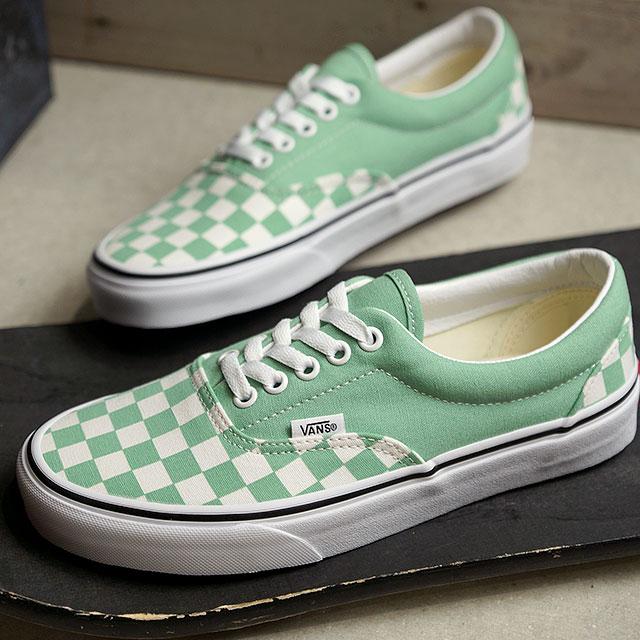 beste Wahl begrenzter Stil vielfältig Stile Vans VANS checkerboard gills CHECKERBOARD ERA Lady's station wagons  sneakers shoes NEPTUNE GREEN/TRUE WHITE (VN0A38FRVOV SS19)