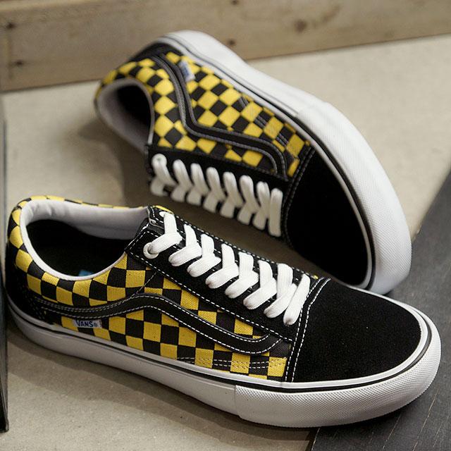 Vans VANS checker old school pro CHECKER OLD SKOOL PRO men station wagons sneakers shoes BLACKASPEN GOLD (VN0A45JCVG2 SS19)