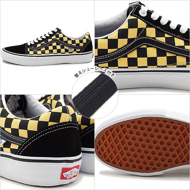 Vans VANS checker old school pro CHECKER OLD SKOOL PRO men station wagons sneakers shoes BLACKASPEN GOLD [VN0A45JCVG2 SS19]