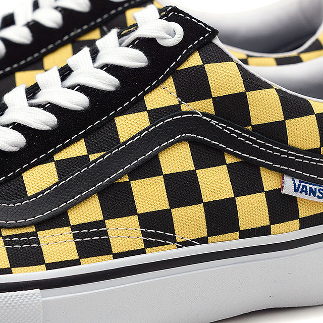 5c21600f827b9b Vans VANS checker old school pro CHECKER OLD SKOOL PRO men station wagons  sneakers shoes BLACK ASPEN GOLD (VN0A45JCVG2 SS19)