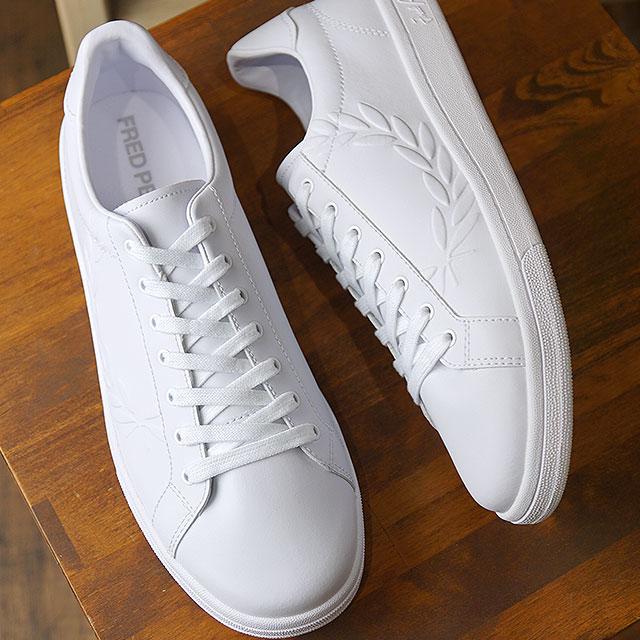 【即納】フレッドペリー FRED PERRY B721 エンボス ローレル レザー B721 EMBOSSED LAUREL LEATHER メンズ レディース スニーカー 靴 WHITE (B5150-134 SS19)