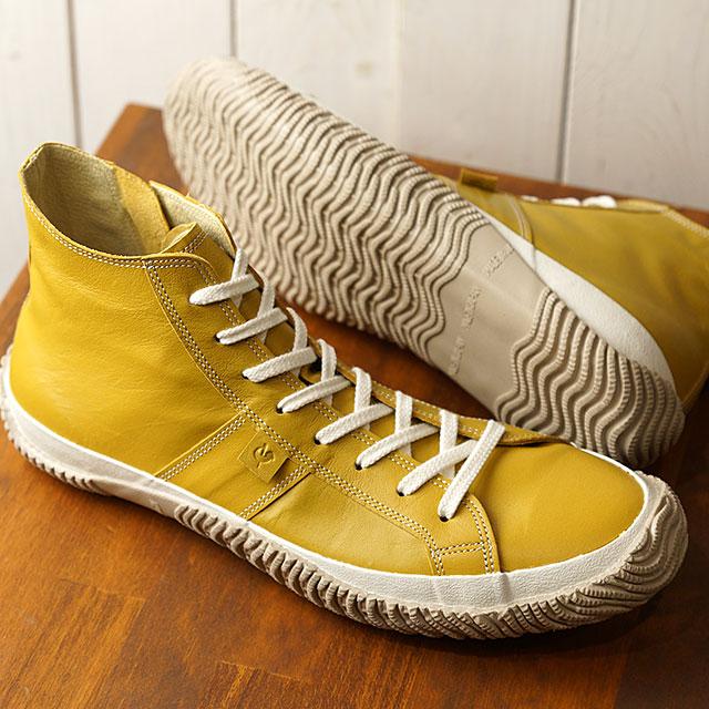 【返品送料無料】スピングルムーブ SPINGLE MOVE 日本製 カンガルーレザー SPM-443 メンズ レディース スピングルムーヴ スニーカー 靴 Mustard (SPM443-19 SS19)