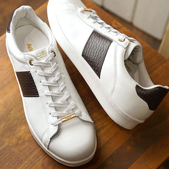 アドミラル Admiral パークランド2 PARKLAND 2 メンズ レディース スニーカー カジュアル 靴 White/Brown (SJAD1902-0108 SS19)