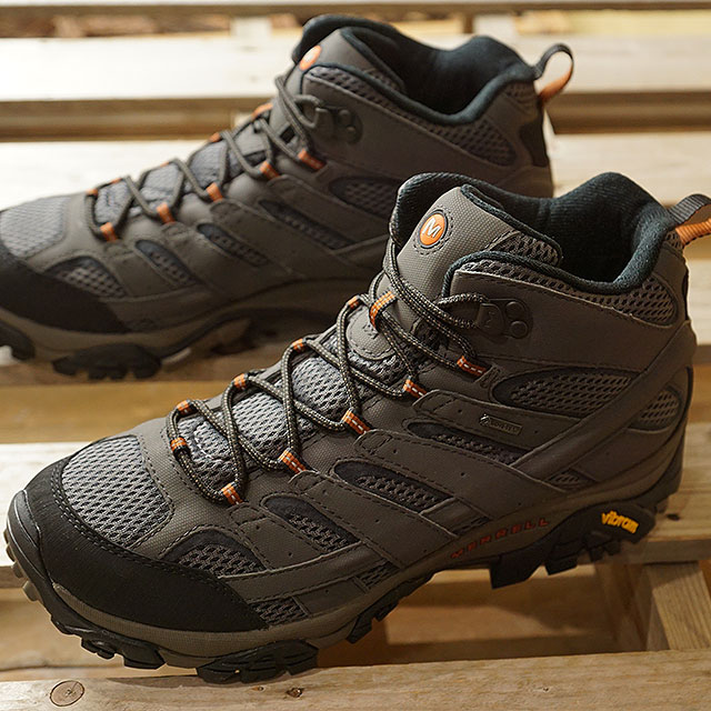 【月間優良ショップ】メレル MERRELL メンズ モアブ2 ミッド ゴアテックス MNS MOAB2 MID GORE-TEX ハイキング トレッキングシューズ スニーカー 靴 BELUGA グレー系 (06059 SS19)