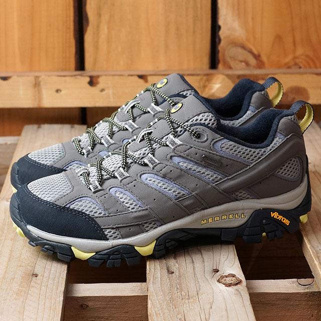 【月間優良ショップ】メレル MERRELL レディース モアブ2 ゴアテックス WMS MOAB2 GORE-TEX ハイキング トレッキングシューズ スニーカー 靴 NAVY MORNING グレー系 (19888 SS19)
