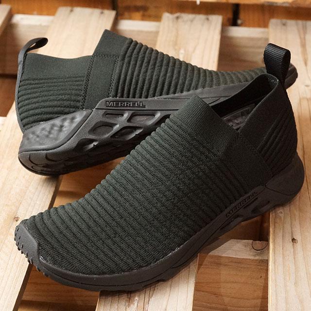 【即納】メレル MERRELL メンズ レンジ レースレス エーシープラス MNS RANGE LACELESS AC+ リラックス スニーカー 靴 TRIPLE BLACK ブラック系 (97629 SS19)