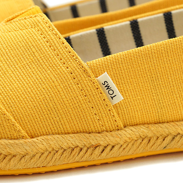 【即納】トムスTOMS レディース エスパドリーユ スリッポン オン ロープ WMS Alpargata on Rope トムズシューズ 靴 Gold Fusion Cannas on Mono Rope イエロー系 (10013497 SS19)