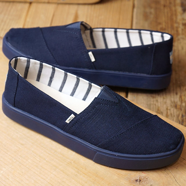 c67cdeccb76 Tom s TOMS men espadrille slip-ons cup sole MNS Alpargata Cupsole Thoms  shoes shoes Navy Navy Heritage Canvas Cupsole navy system (10013557 SS19)