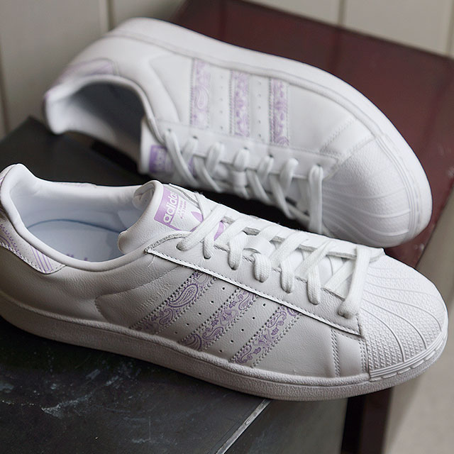 adidas originals superstar purple white