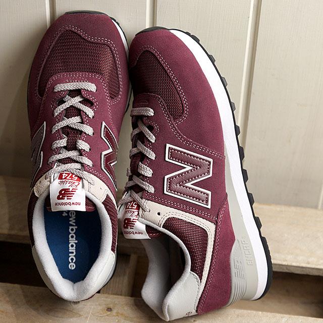 【即納】ニューバランス newbalance ML574 EGB メンズ レディース スニーカー 靴 BURGUNDY バーガンディー系 (ML574EGB SS19)