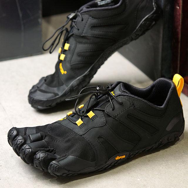ビブラムファイブフィンガーズ Vibram FiveFingers メンズ Vトレイル2.0 M V-Trail 2.0 5本指 トレイルランニングシューズ トレラン Black/Yellow ブラック系 (19M7601 SS19)