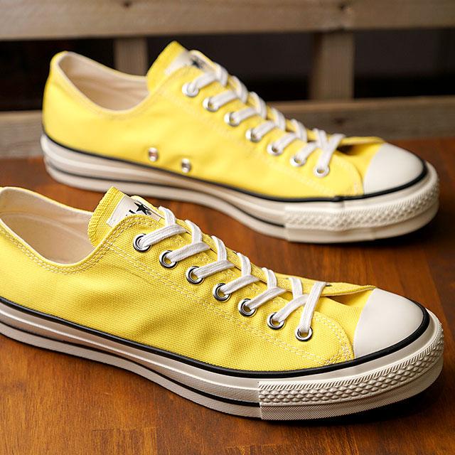 【限定モデル】コンバース CONVERSE キャンバス オールスター J ローカット CANVAS ALL STAR J OX メンズ 日本製 スニーカー 靴 イエロー (32169373 SS19)