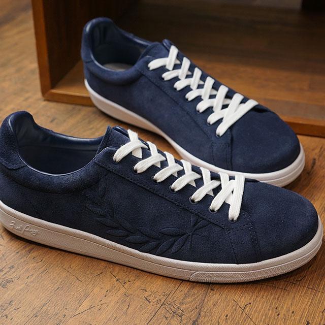 【即納】フレッドペリー FRED PERRY B721 エンボス スエード B721 EMBOSSED SUEDE メンズ レディース スニーカー 靴 CARBON BLUE (B5180-266 SS19)