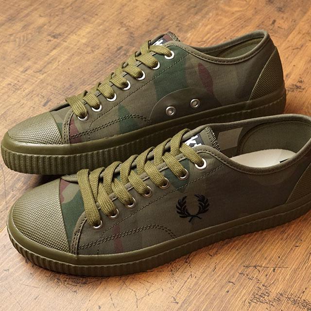 フレッドペリー FRED PERRY カモフラージュ ヒューズ ロー CAMOUFLAGE HUGHES LOW メンズ レディース スニーカー 靴 IRIS TUNDRA CAMO (B5168-H46 SS19)【ts】