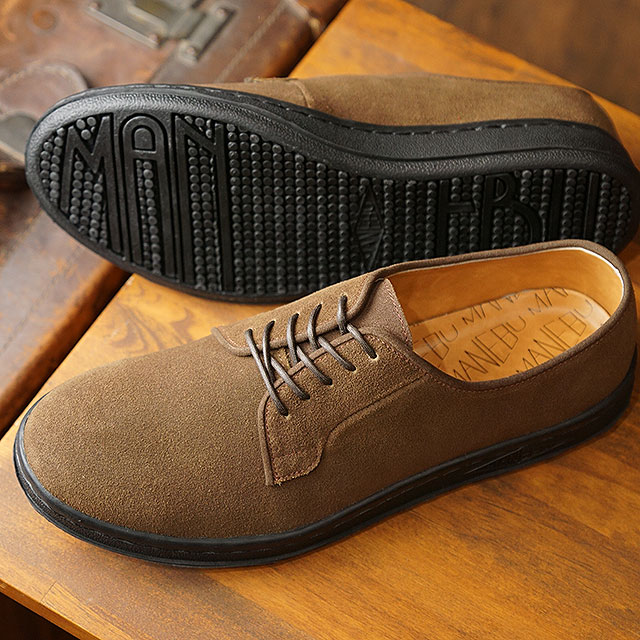 【即納】マネブ MANEBU メンズ ヒヒン スエード HIHIN SUEDE カジュアルシューズ 靴 BROWN ブラウン系 (MNB-001BS SS19)