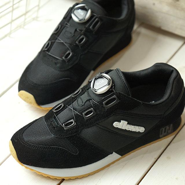 b77242d717 エレッセ ellesse heritage LS117 '19 boa Heritage LS117 '19 BOA men gap Dis  sneakers shoes K black system (EFH9123 SS19)