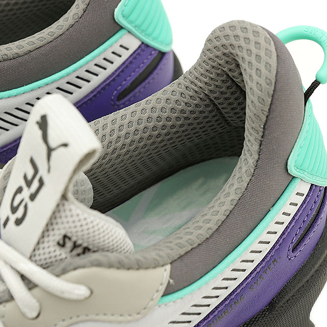 Puma PUMA are S X trucks RS X TRACKS men Lady's sneakers shoes gray violet gray system (369,332 01 SU19)