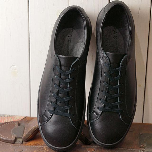ヨーク YOAK メンズ スタンレー STANLEY レザースニーカー 日本製 靴 BLACK ブラック系 ( SS19)