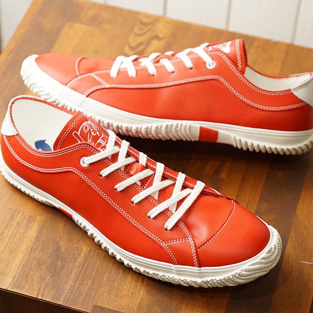 【月間優良ショップ】【あす楽対応】【返品送料無料】スピングルムーブ SPINGLE MOVE 日本製 広島カープ コラボ レザー SPM-250 メンズ レディース スピングル ムーヴ スニーカー 靴 White/Red レッド系 (SPM250-69 SU19)