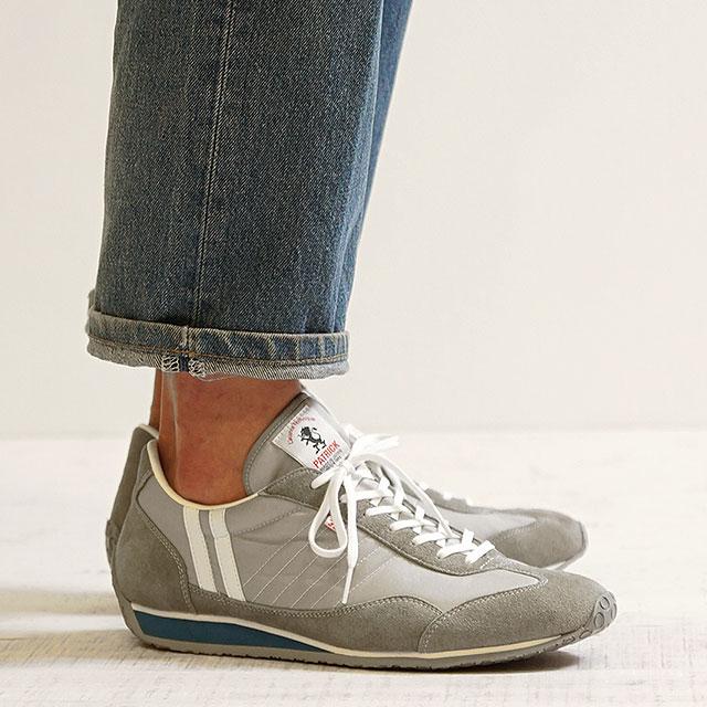 【返品送料無料】【限定復刻モデル】パトリック スニーカー PATRICK メンズ・レディース 日本製 靴 STADIUM スタジアム FALLS シルバー系 (23454)