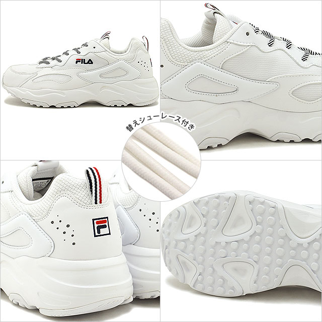 Fila FILA rate racer RAY TRACER メンズレディースダッドスニーカー shoes white (F5055 3130 SU19)