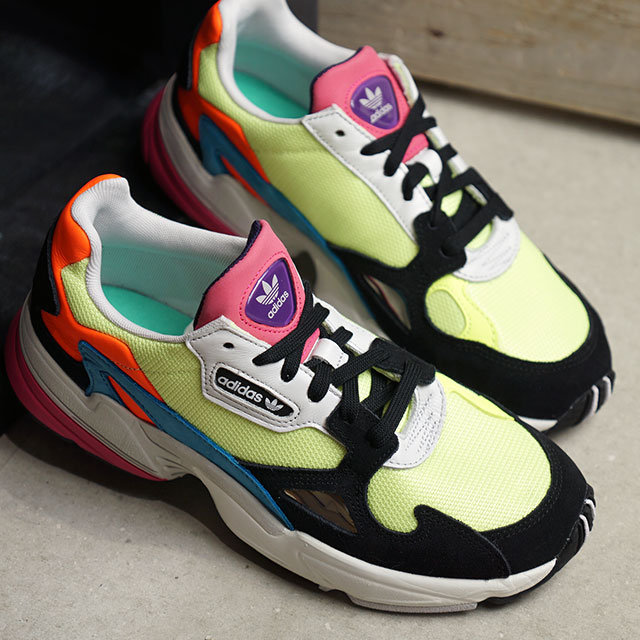 Adidas originals adidas Originals Lady's Adidas falcon women ADIDASFALCON W  sneakers shoes H yellow S19/H yellow S19 multicolored (CDR16/CG6210 ...