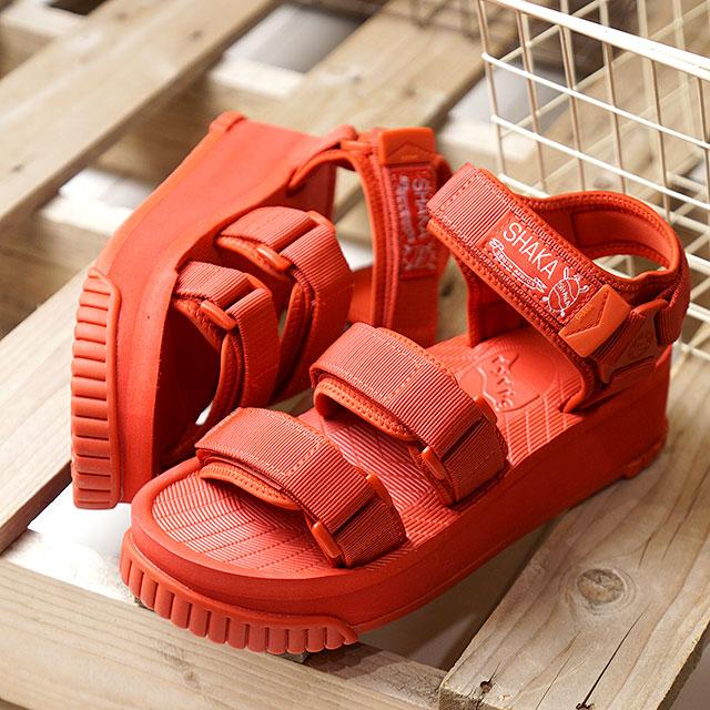 【即納】SHAKA シャカ サンダル ネオ バンジー プラットフォーム NEO BUNGY PLATFORM メンズ レディース 厚底 ストラップ アウトドア 靴 BRICK レッド系 (SK433105 SS19)