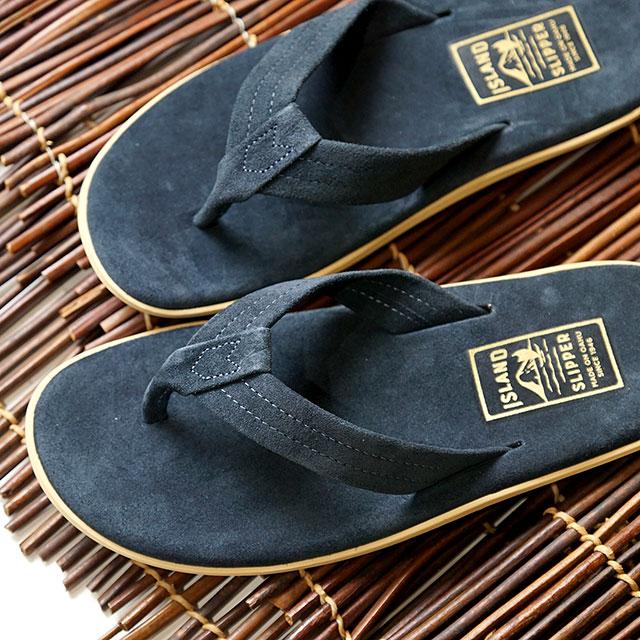 【月間優良ショップ】【ハワイ製】アイランドスリッパ ISLAND SLIPPER スエード ビーチサンダル PT203 メンズ・レディース トングサンダル 靴 NAVY ネイビー系 (PT203)