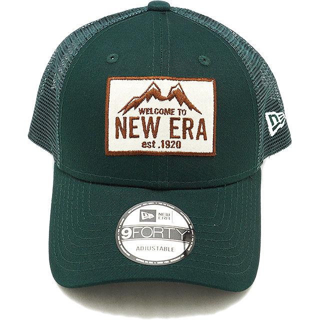 738caa85d New gills outdoor NEWERA OUTDOOR 9FORTY TRUCKER MOUNTAIN mountain trucker  cap men gap Dis mesh cap hat green system (11897311 SS19)