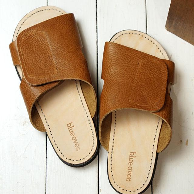 【即納】ブルーオーバー blueover リル LIRR メンズ 日本製 栃木レザー サンダル 靴 OAK ブラウン系 (SS19)