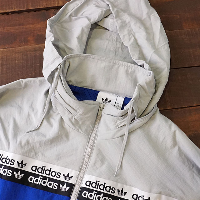 Adidas originals adidas Originals men vocal wind truck top VOCAL WIND TRACK TOP nylon jacket windbreaker blue system (GJF15EK4338 FW19)