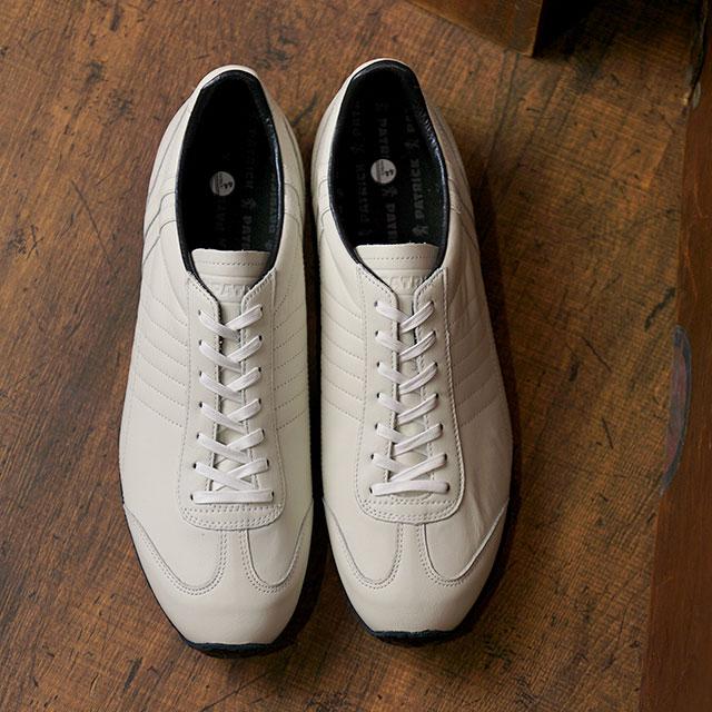 【返品送料無料】パトリック PATRICK 日本製 パミール・ウォータープルーフ PAMIR-WP メンズ・レディース 防水レザー スニーカー 靴 WHT ホワイト系 (530170 SS19Q2)