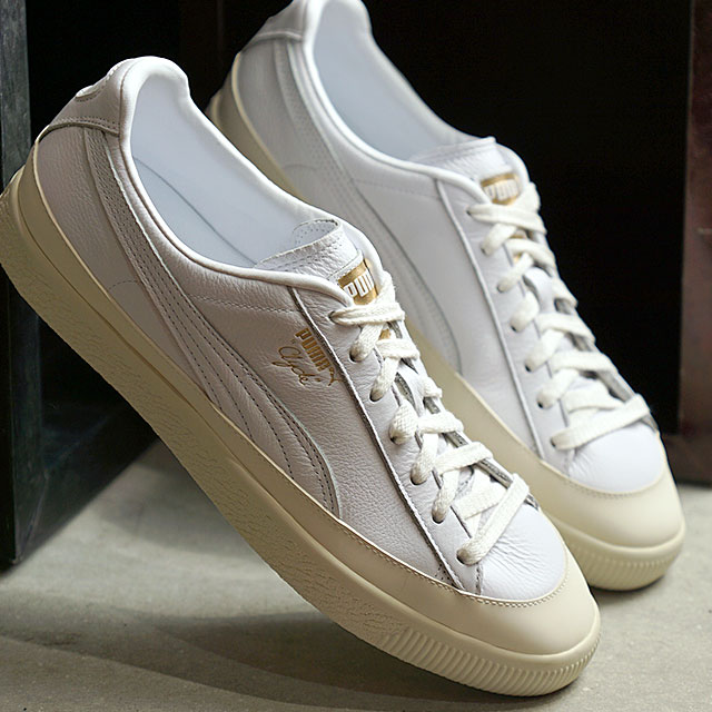 check out c013c a0588 Puma PUMA Clyde rubber toe leather CLYDE RUBBER TOE LEATHER men gap Dis  sneakers shoes white system (366,986-01)