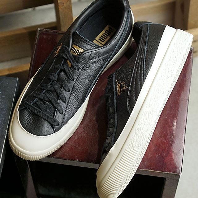 size 40 e397a 187fd Puma PUMA Clyde rubber toe leather CLYDE RUBBER TOE LEATHER men gap Dis  sneakers shoes black system (366,986-02)