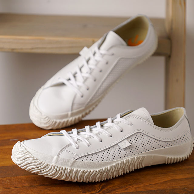 【返品送料無料】スピングルムーブ SPINGLE MOVE 日本製 SPM-120 パンチングレザー メンズ レディース スピングル ムーヴ スニーカー 靴 White ホワイト系 (SPM120-61 SU19)