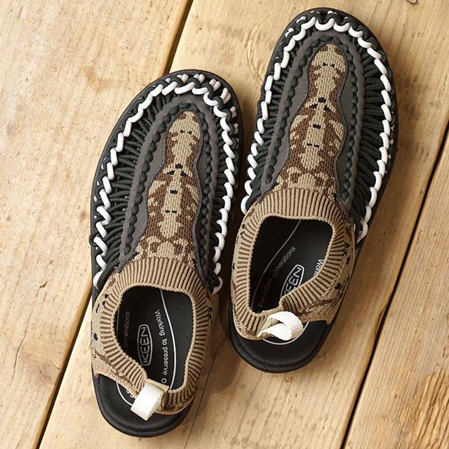 【限定モデル】キーン KEEN レディース ユニーク エヴォ WOMEN UNEEK EVO イリオモテパック 西表島 サンダル 靴 Petrified Oak/Raven (1021490 SS19)
