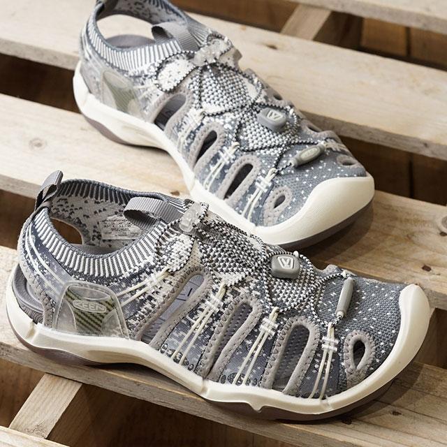 【月間優良ショップ】キーン KEEN レディース エヴォフィット ワン WOMEN EVOFIT 1 サンダル 靴 Grey/White (1021402 SS19)【ts】【e】