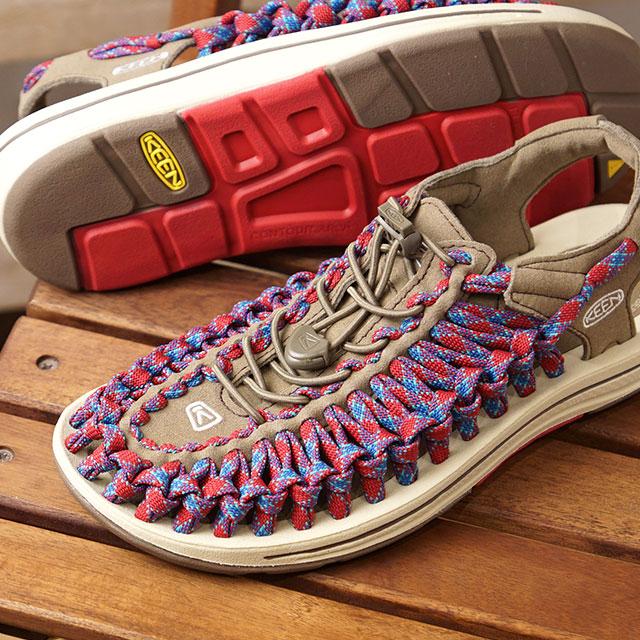キーン KEEN レディース ユニーク フラット WOMEN UNEEK FLAT サンダル 靴 Walnut/Crimson (1020800 SS19)【ts】【e】