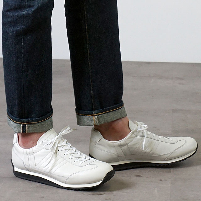 【月間優良ショップ】【あす楽対応】【返品送料無料】パトリック PATRICK 日本製 マラレイン MARARAIN メンズ レディース 防水レザー スニーカー 靴 WHT ホワイト系 (530710 SS19)