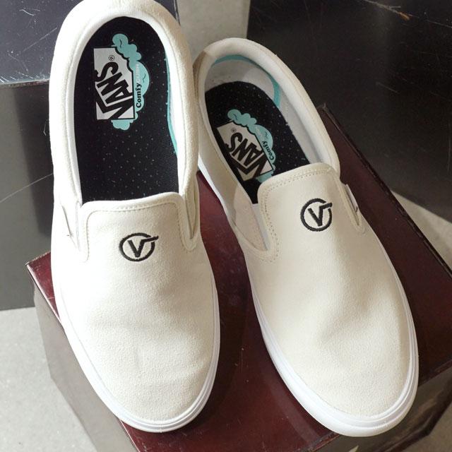 【即納】バンズ VANS コンフィークシュ スリップオン ディストート COMFYCUSH SLIP-ON DISTORT メンズ レディース ヴァンズ スリッポン スニーカー 靴 BLANC ホワイト系 (VN0A3WMDVX7 FW19)