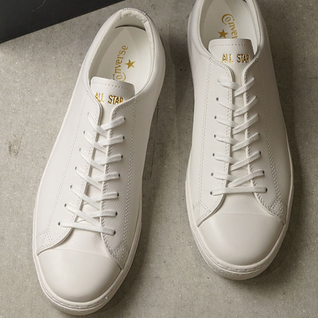 Converse CONVERSE オールスタークップレザーローカット ALL STAR COUPE LEATHER OX (WHITE white system) (31300290 FW19)