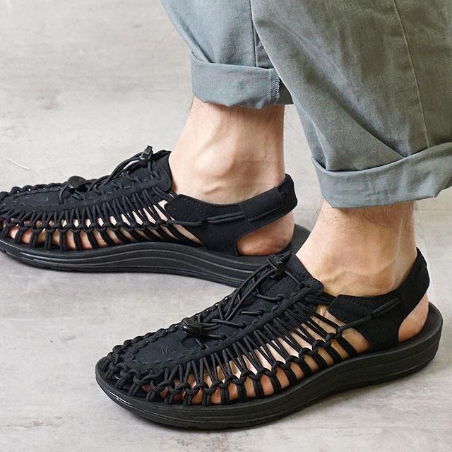 【サイズ交換無料】KEEN キーン メンズ サンダル 靴 UNEEK 3C MEN ユニーク スリーシー Black/Black (1014097)