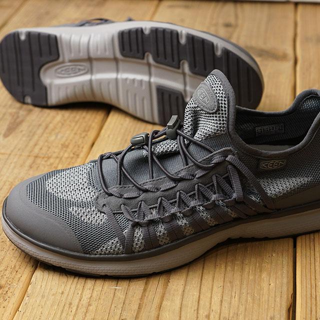 KEEN キーン ユニーク スニーカー 靴 メンズ M UNEEK EXO ユニーク エクソ Steel グレー/Paloma (1018770 SS18)【ts】