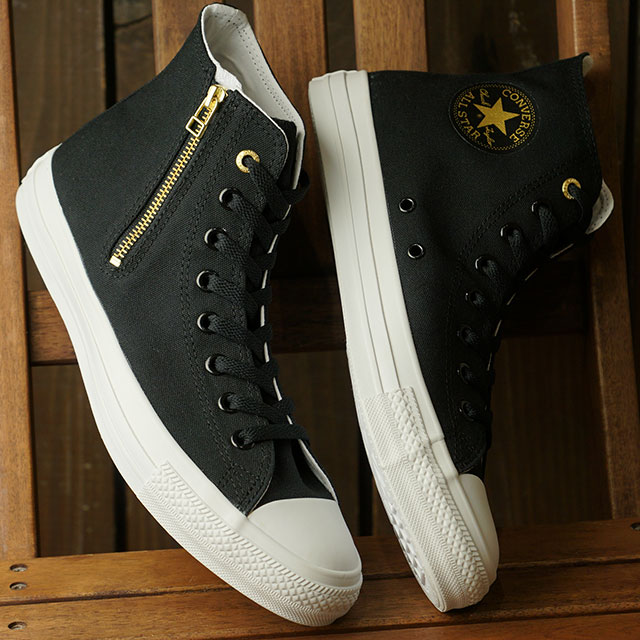 Converse CONVERSE sneakers all stars gold zip 2 higher frequency elimination ALL STAR GOLDZIP II HI men Lady's BLACK (31301531 SS20)