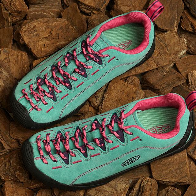 KEEN キーン スニーカー ジャスパー W JASPER (1022820 SS20) レディース アウトドアシューズ 靴 Dusty Jade Green/Fuchsia Pink ブルー系